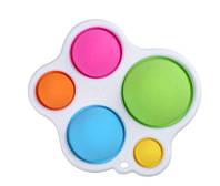 Игрушка антистресс Симпл димпл большой, Simple dimple пупырки антистресс, брелок сенсорный