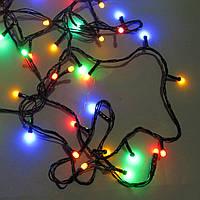 Светодиодная гирлянда String нить 400LED 18м  Мультицвет Черный провод мультицвет