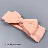 Ромпер на гудзиках+пов'язка дів. Рожевий 0422 Murat baby Туреччина 68(р), фото 3