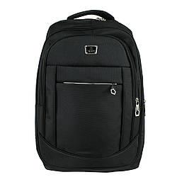 Рюкзак городской универсальный тканевый черный