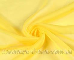 Шифон (вуаль) однотонный желтый
