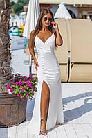 Плаття довге з розрізом 46056