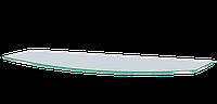 Полочка стеклянная навесная радиусная Commus PL6 RC (180х440х6мм), фото 1