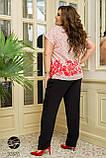 Женский брючный костюм батал Украина размер : 50-52,54-56,58-60,62-64, фото 6