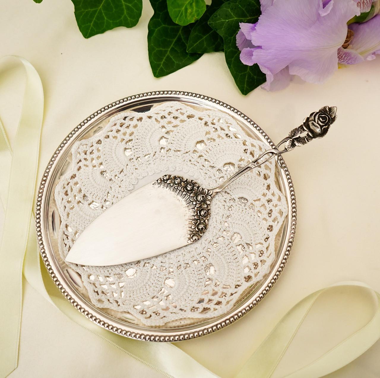 Срібна кондитерська лопатка для торта, десерту, срібло 800, Німеччина Arthur Otto