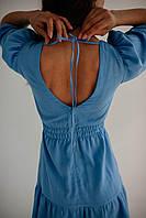 Літнє плаття з льону, фото 2