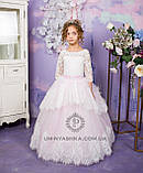 Длинное нарядное платье Ева на 4-6, 6-7, 8-10 лет, фото 4