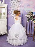 Длинное нарядное платье Ева на 4-6, 6-7, 8-10 лет, фото 5