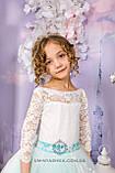Длинное нарядное платье Ева на 4-6, 6-7, 8-10 лет, фото 8