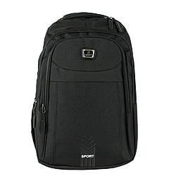Рюкзак городской  повседневный тканевый черный