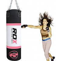 Профессиональный боксерский мешок 1.2м, 30-35кг RDX розовый