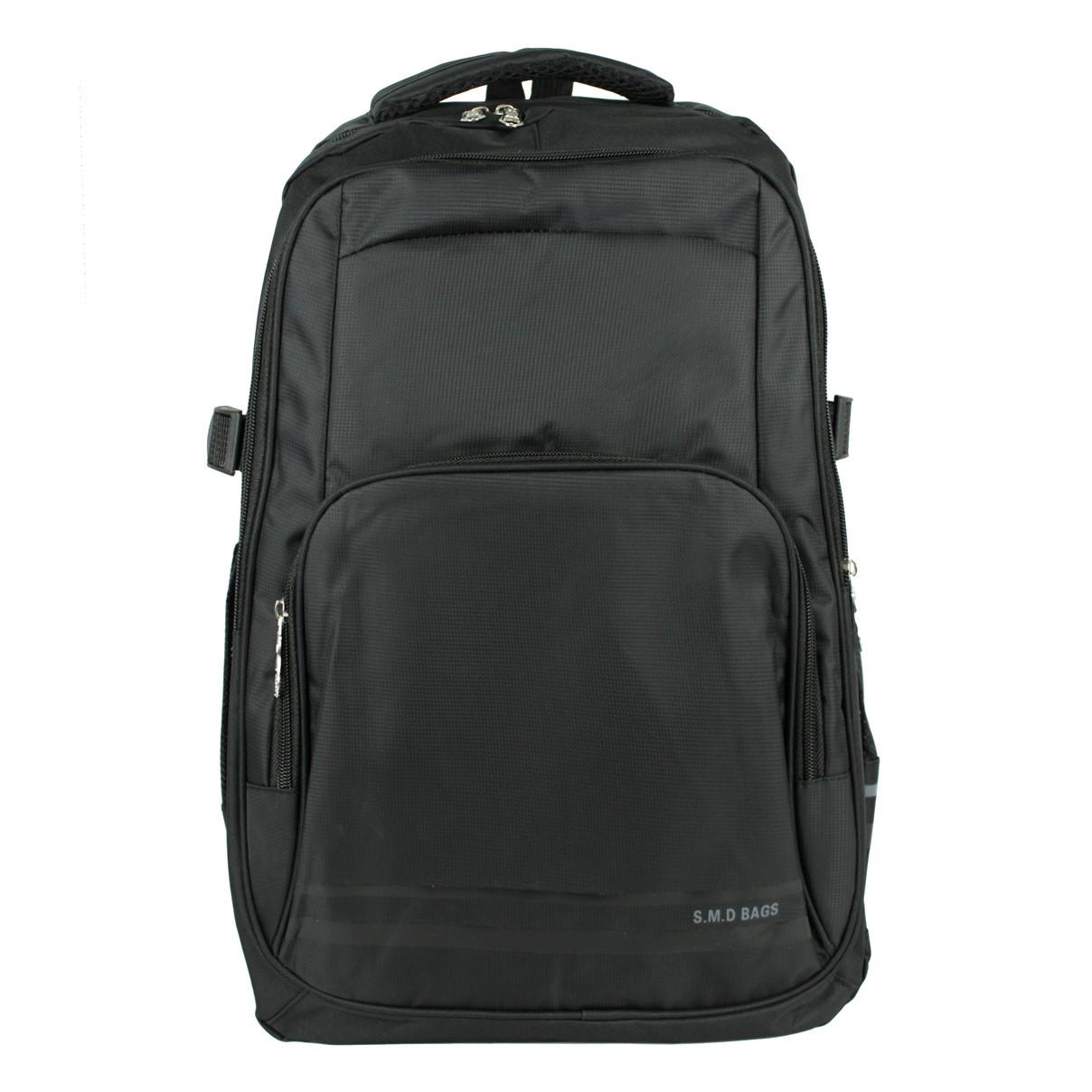 Рюкзак міський повсякденний тканинний чорний-сірий