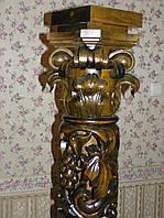 Прорезные колонны из дерева