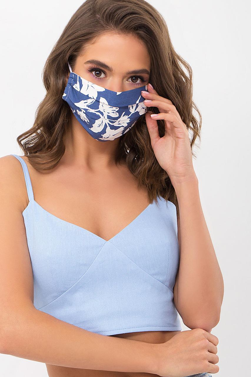 Тканевая защитная маска из хлопка с цветочным рисунком