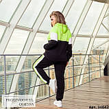 Спортивный костюм женский большого размера Minova Размеры: 48-50, 52-54, 56-58, 60-62 ,64-66, фото 2