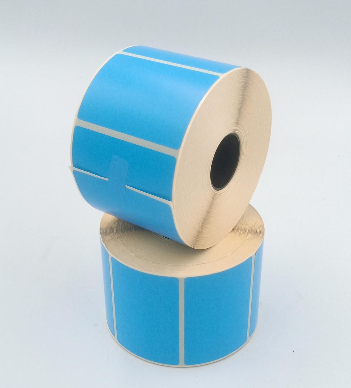 Термоэтикетка Т.Еко пантон 58*40 мм 1000 этикеток прямоугольная 5 шт синяя (5840T1000V25B)