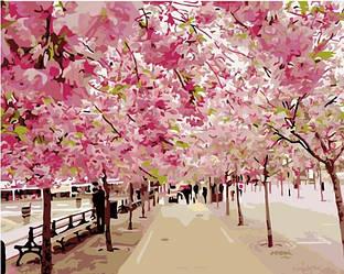 Картина за номерами (Цвітіння сакури ) bk_1047