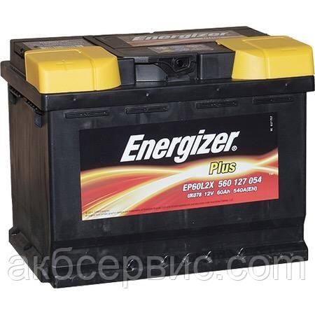 Акумулятор автомобільний Energizer 6СТ-60 Plus EP60L2X
