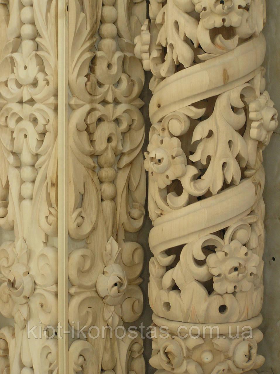 Прорезные колонны,резные столбы