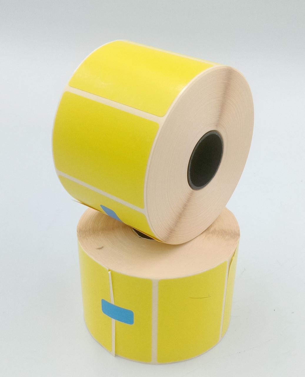 Термоэтикетка Т.Еко пантон 58*40 мм 1000 этикеток прямоугольная 5 шт жёлтая (5840T1000V25Y)