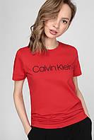 """Футболка жіноча """"Calvin Klein"""", кельвін кляйн червона, фото 1"""