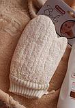 Мочалка рукавиця банна масажна натуральна TITANIA art.7250, фото 5