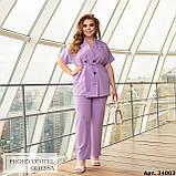 Женский брючный костюм батал Украина размер :  48-50, 52-54, 56-58, 60-62, 64-66., фото 4