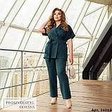 Женский брючный костюм батал Украина размер :  48-50, 52-54, 56-58, 60-62, 64-66., фото 2