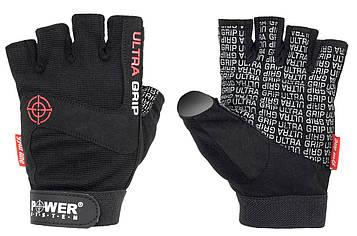 Перчатки для фитнеса и тяжелой атлетики Power System Ultra Grip PS-2400 Black XS