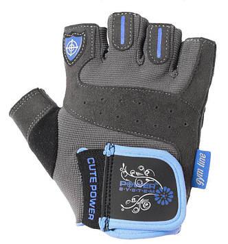 Рукавички для фітнесу і важкої атлетики Power System Cute Power PS-2560 жіночі Blue XS