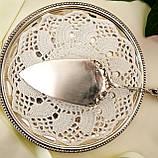 Срібна кондитерська лопатка для торта, десерту, срібло 800, Німеччина Arthur Otto, фото 7