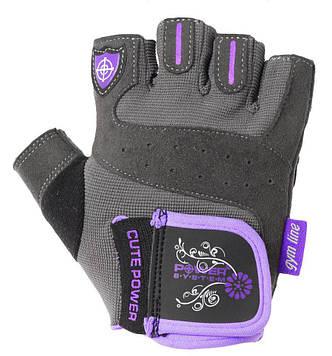 Рукавички для фітнесу і важкої атлетики Power System Cute Power PS-2560 жіночі Purple XS