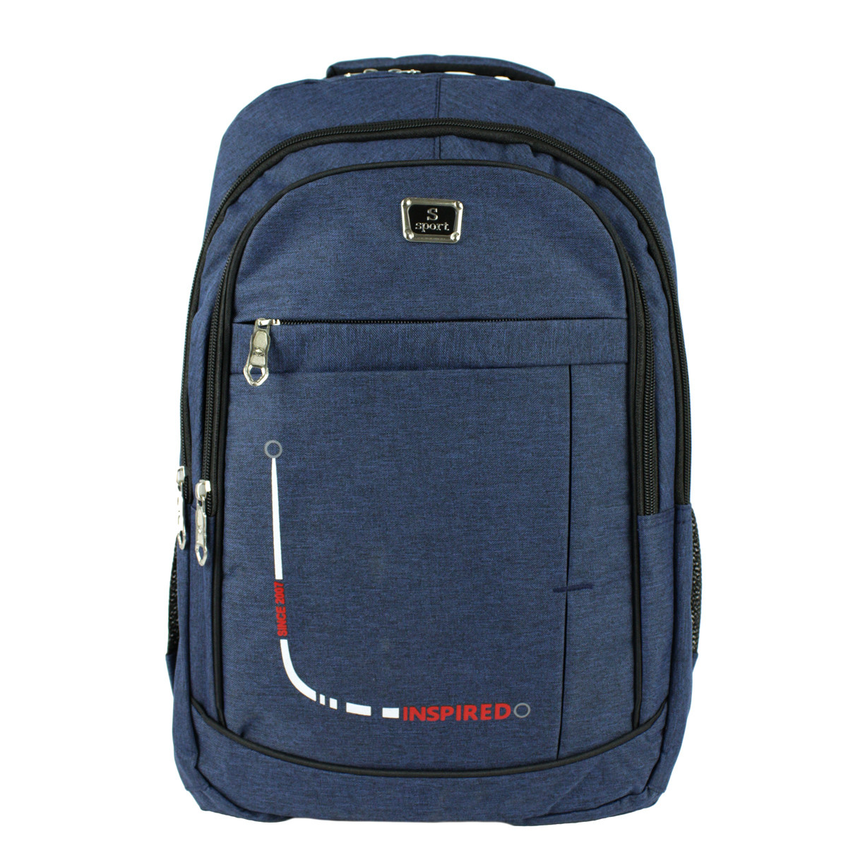 Рюкзак міський універсальний повсякденний тканинний синій