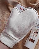 Мочалка рукавиця банна масажна натуральна TITANIA art.7250, фото 3
