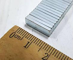 (10шт) Магнит неодимовый (прямоугольник 15х5х1,8мм) Выдерживает вес до 1.5 кг.