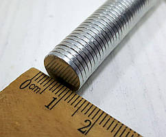 (10шт) Магнит неодимовый (шайба 12х1,4мм) Выдерживает вес до 1,2 кг.