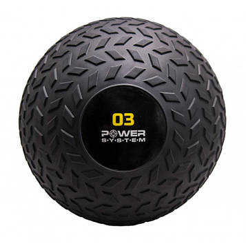 М'яч SlamBall для кросфита і фітнесу Power System PS-4114 3кг рифлений (AS)