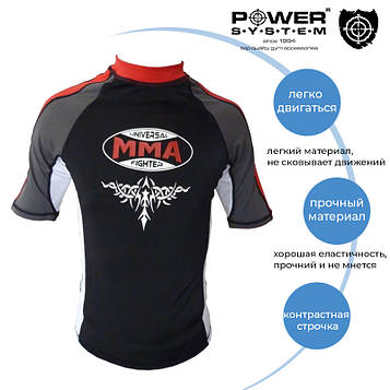 Рашгард для MMA Power System 004 Scorpio L Black/Red