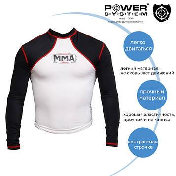 Рашгард для MMA Power System 008 Combat M White/Black