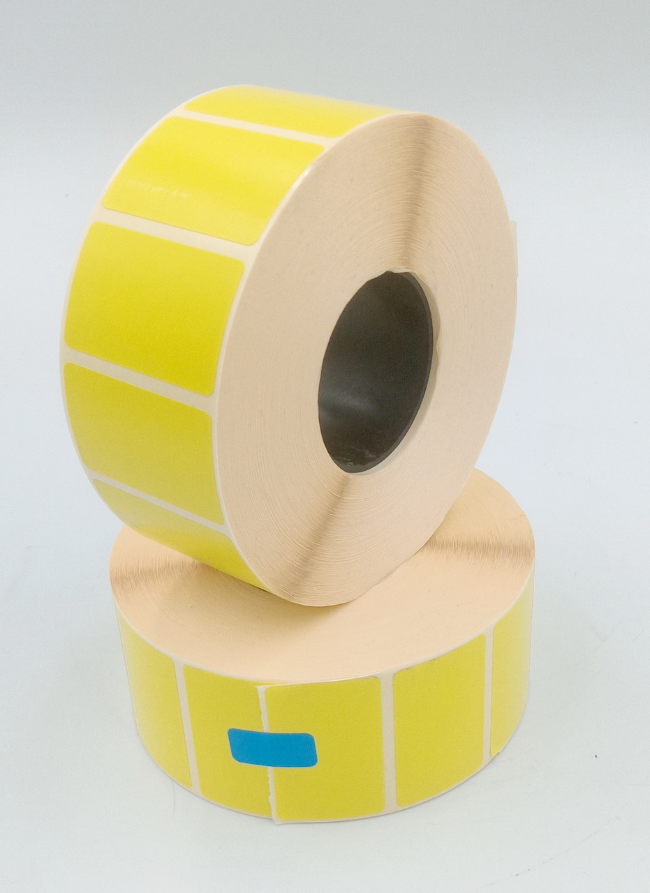 Термоетикетка Т. Еко пантон 40*25 мм 2000 етикеток прямокутна 5 шт жовта (4025T2000V40Y)