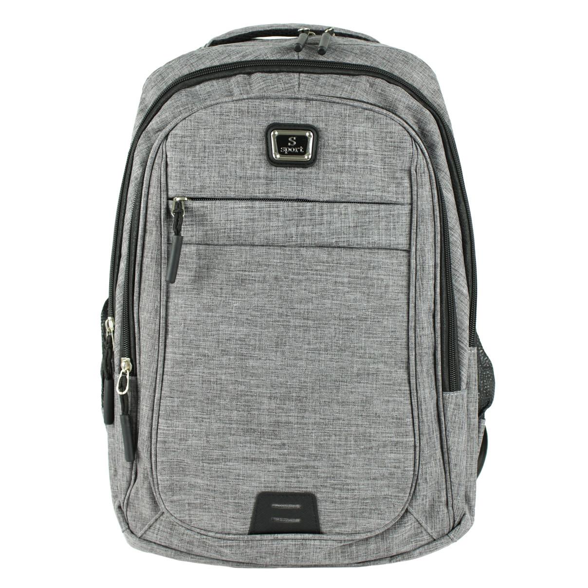 Рюкзак городской Sport повседневный текстиль серый