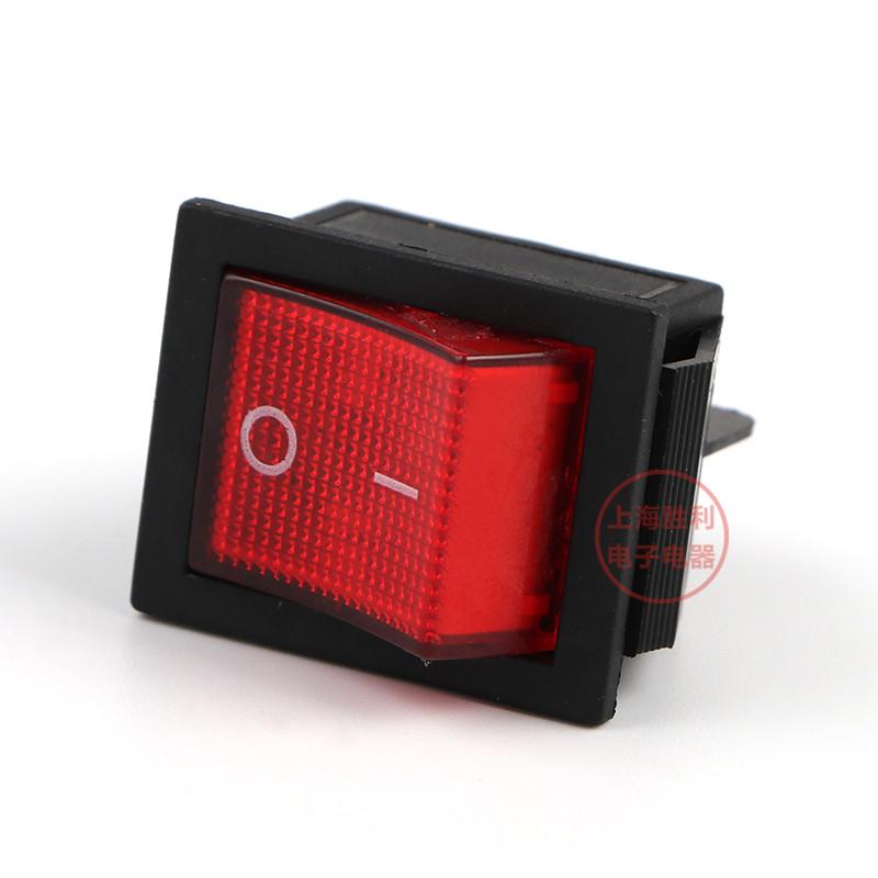 Кнопка - выключатель, двухпозиционный, 250 Вт, 15 А, KCD2 4 контактов,