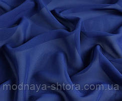 Шифон (вуаль) однотонный синий