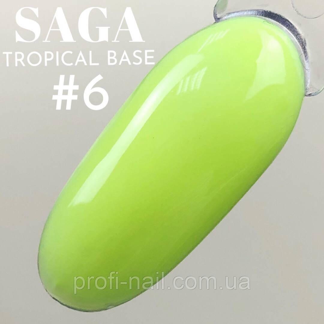 Saga Tropical Base (цветная неоновая база) №06, 8 мл