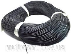 07-11-005BK. Провод монтажный многожильный 26АWG (0,13мм²), силиконовый, черный, 305м/бухта