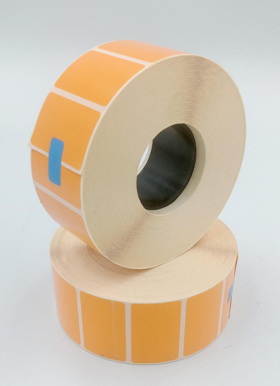 Термоетикетка Т. Еко пантон 40*25 мм 2000 етикеток прямокутна 5 шт помаранчева (4025T2000V40O)