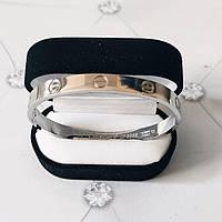 Браслет Cartier Love 19S без камней, Белое Золото