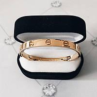 Браслет Cartier Love 19S без камней, Розовое Золото