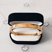 Браслет Cartier Love 19S без камней, Желтое Золото