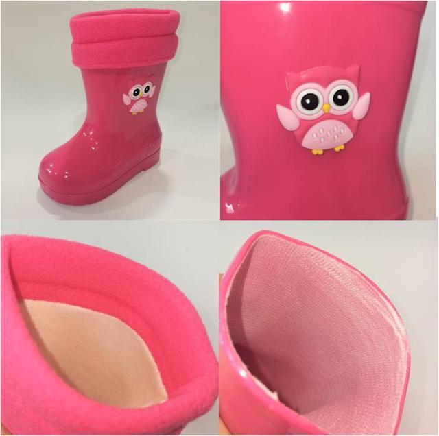 Резиновые сапоги с сапожком съемным, Flamingo фото